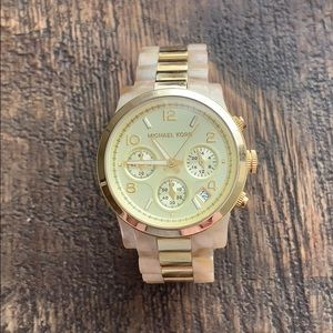 Michael Kors Tortoise shell and gold watch